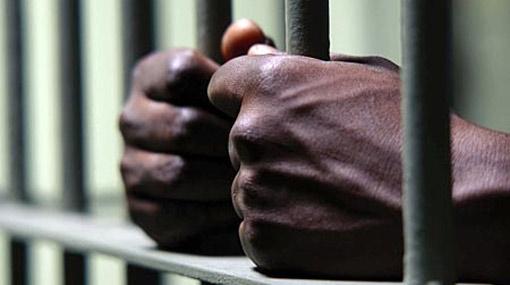 A man behind the bars