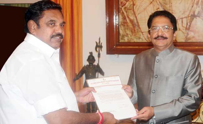 Tamil Nadu Governor invites Sasikala pick E Palanisamy to take oath as Chief Minister