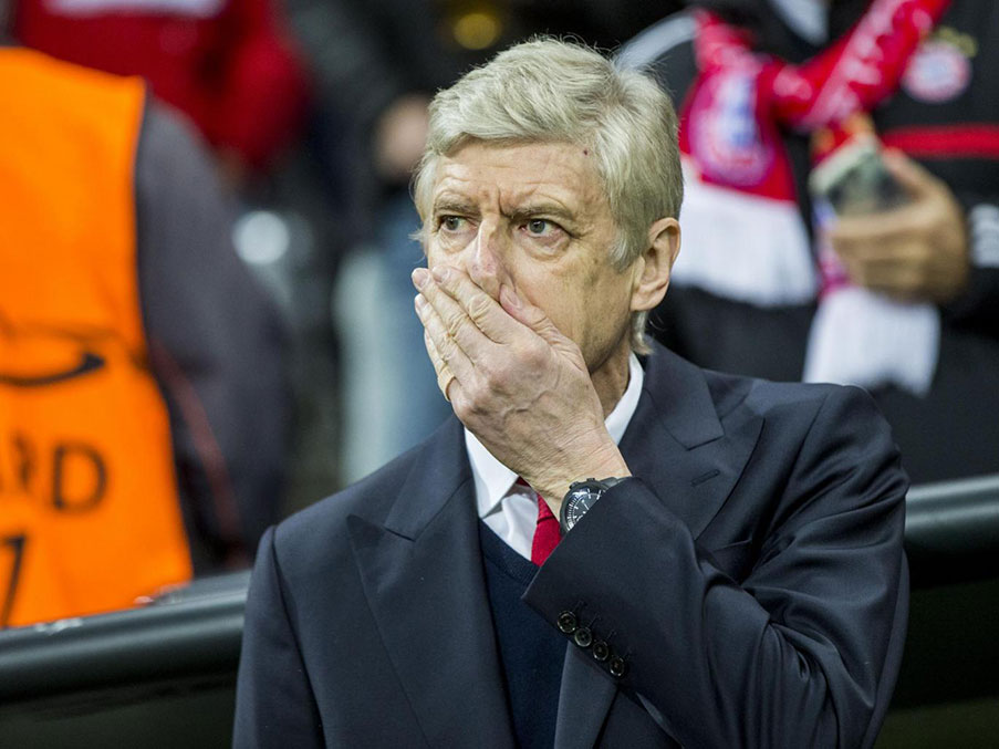 Arsenal were blown away in the second half Getty