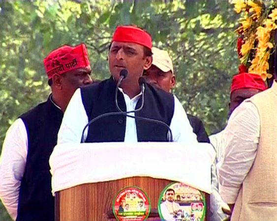 UP CM Akhilesh Yadav at Bahraich