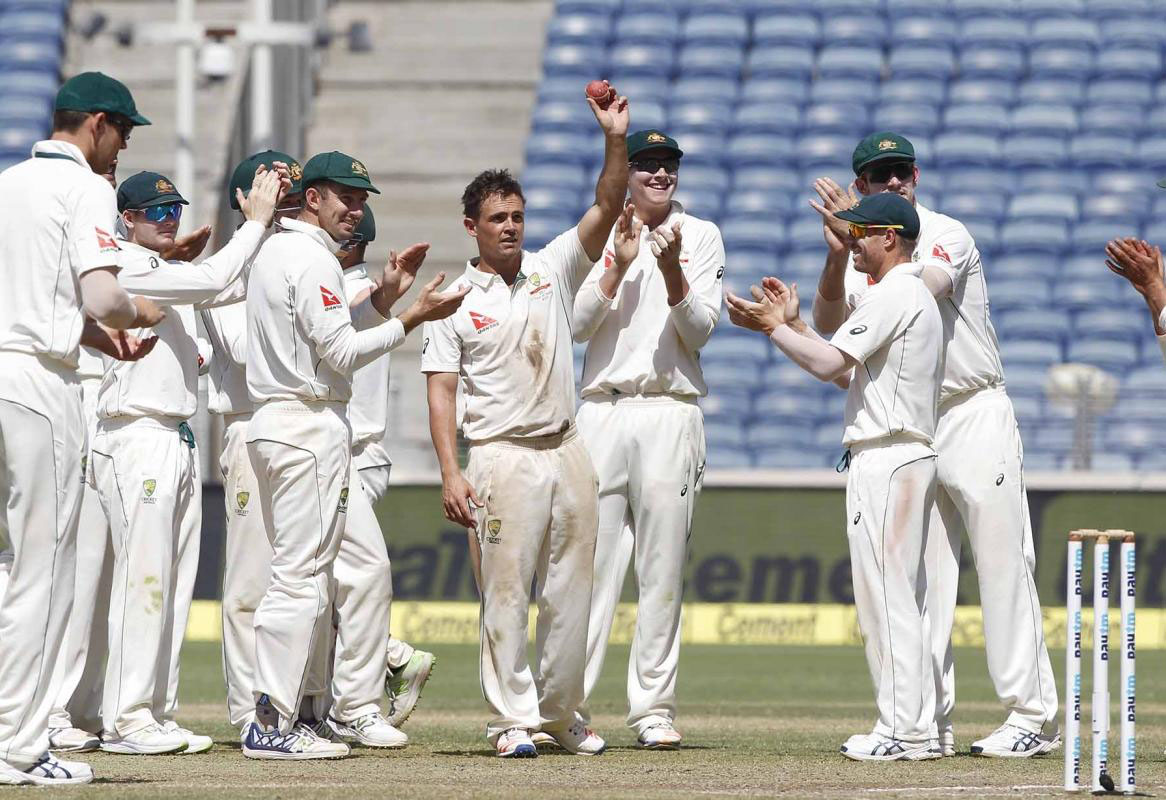 Australia defeat India by 333 runs in Pune Test
