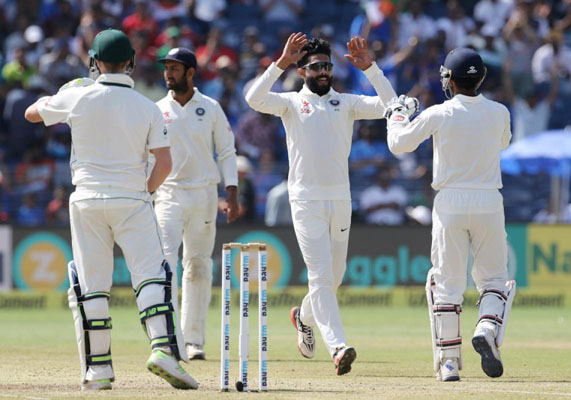 Team Australia all out for 285 in their second innings  against India
