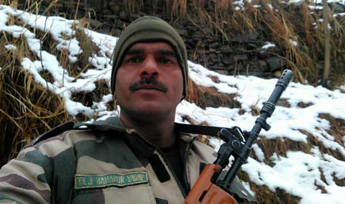 BSF Tej Bahadur Yadav in the video released by him