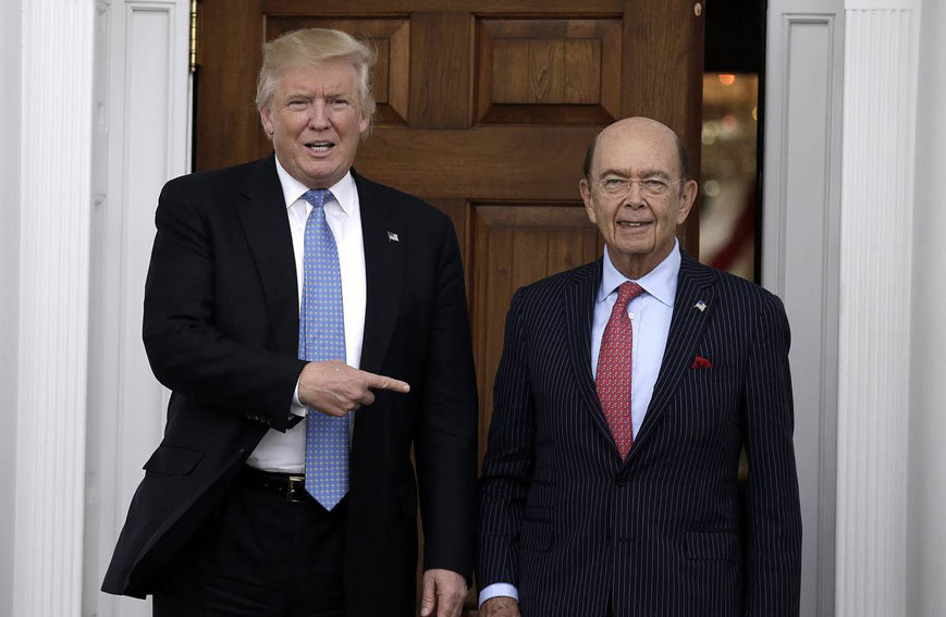 US  President Donald Trump with Wilbur Rose (File photo)