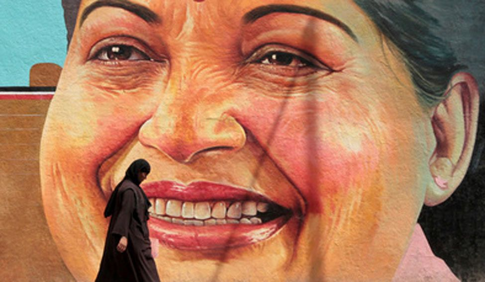 Former Tamil Nadu chief minister J.Jayalalithaa's portrait (File Photo)