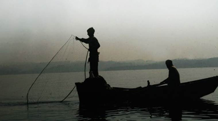 Fishermen went on an indefinite strike against the government's 45-day fishing ban