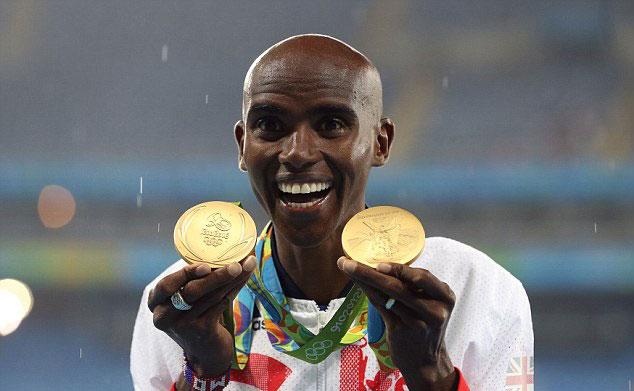 British sprinter Mo Farah