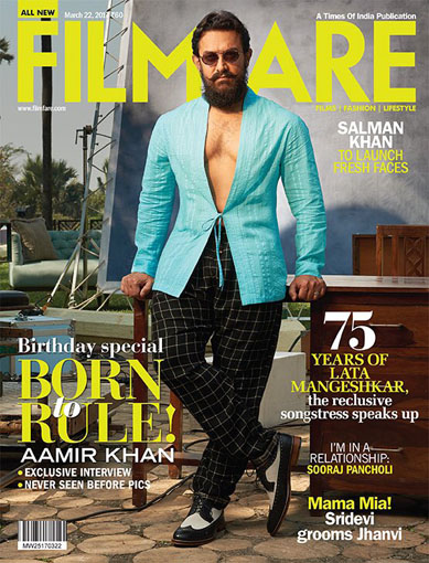 Aamir Khan on the cover page of the Filmfare