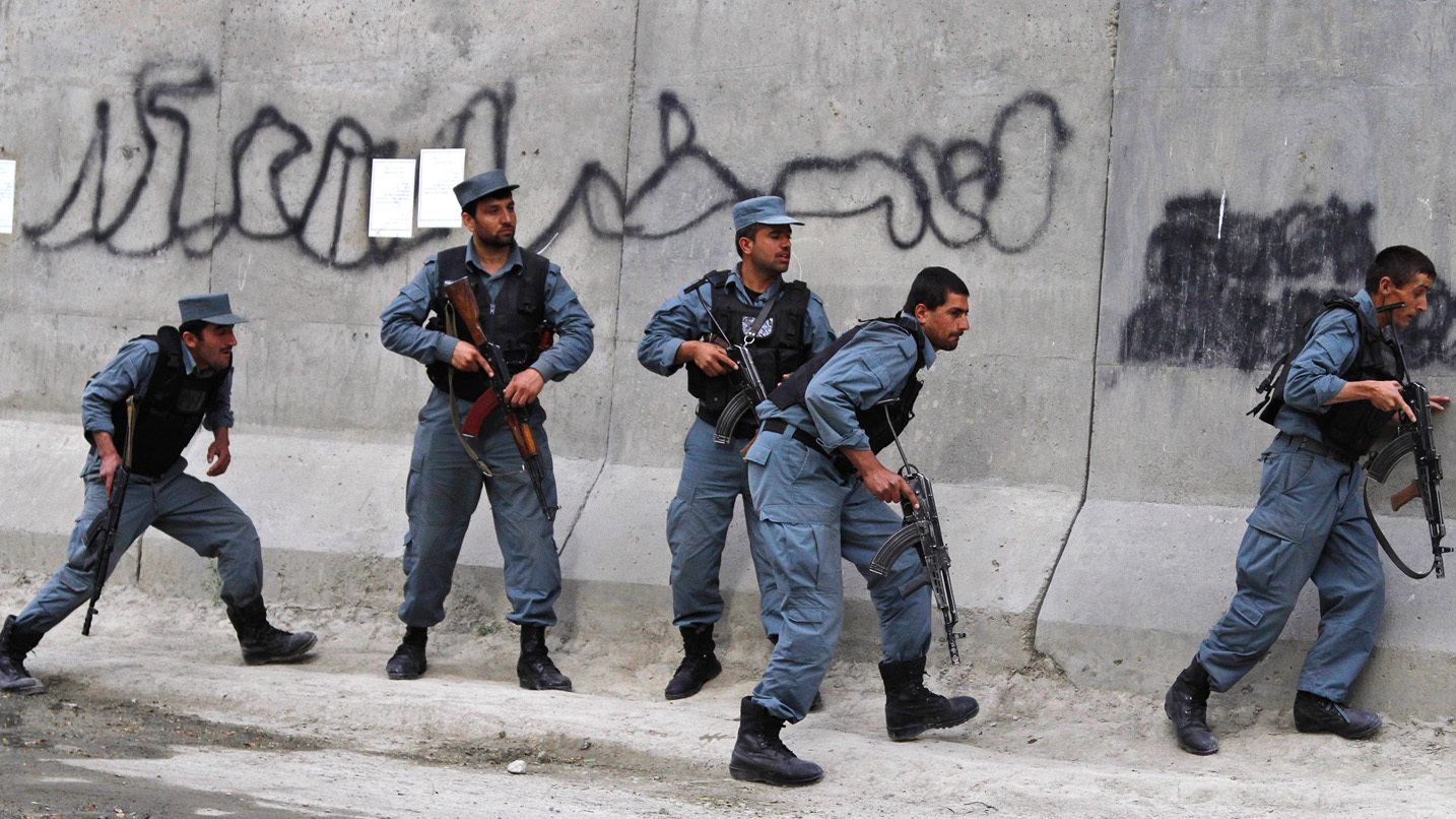 Afghan policemen (File Photo)