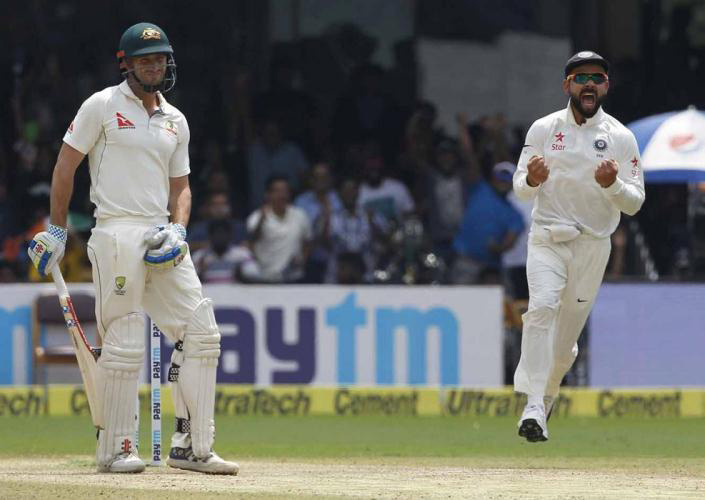 India sets for 1-1 out of five test match