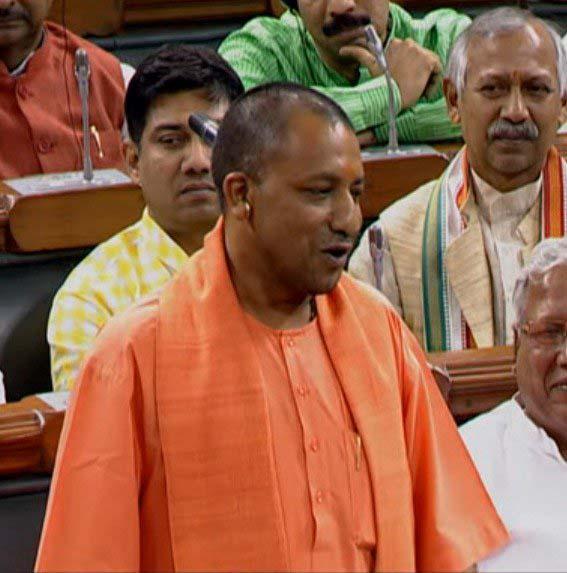 Uttar Pradesh Chief Minister Yogi Adityanath speaking in Lok Sabha