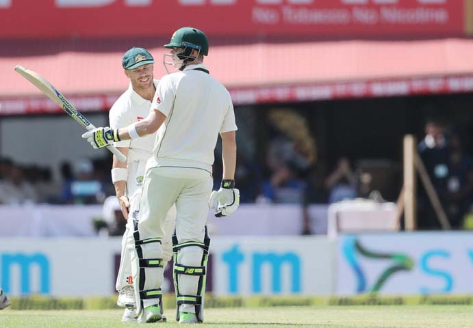 Steve Smith with David Warner
