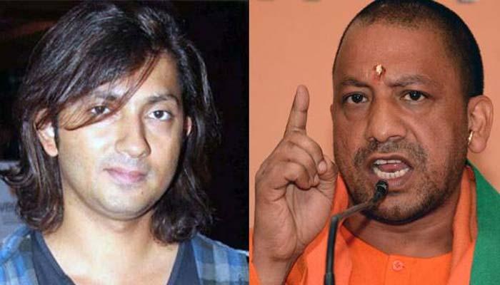 Filmmaker Shirish Kunder (Left) and Uttar Pradesh Chief Minister Yogi Adityanath (Right)