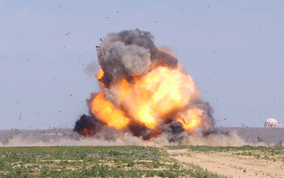 A low-intensity explosion near a railway track in Sant Kabir Nagar