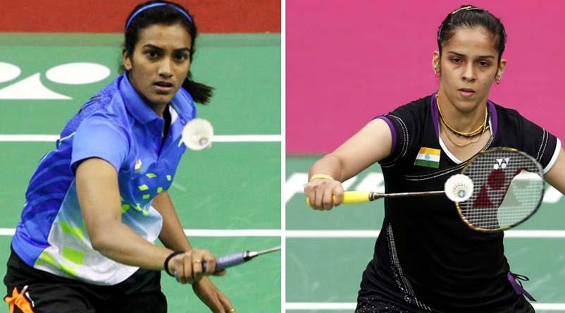 Badminton player PV Sindhi (Left) and Saina Nehwal (Right)