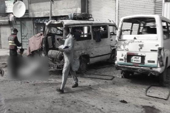 A scene of Lahore suicide blast