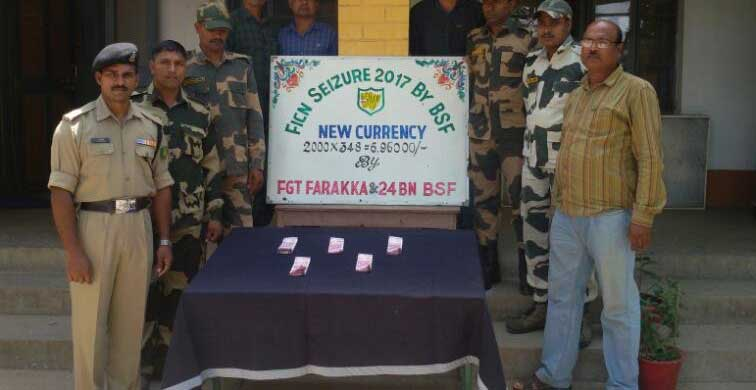 BSF  has seized 348 fake currency notes