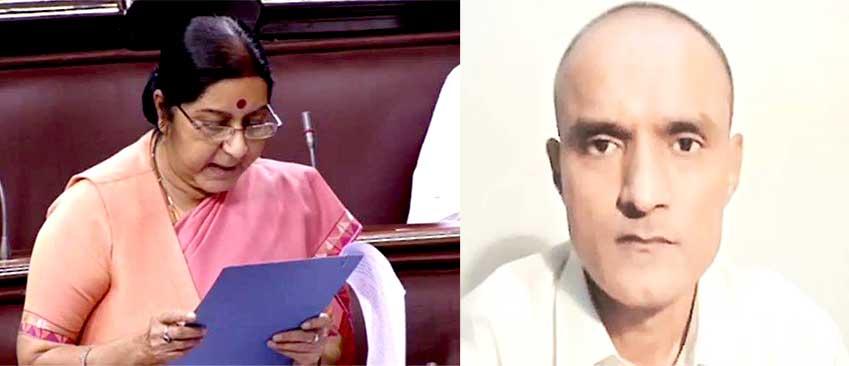 EAM Sushma Swaraj and Kulbhushan Jadhav