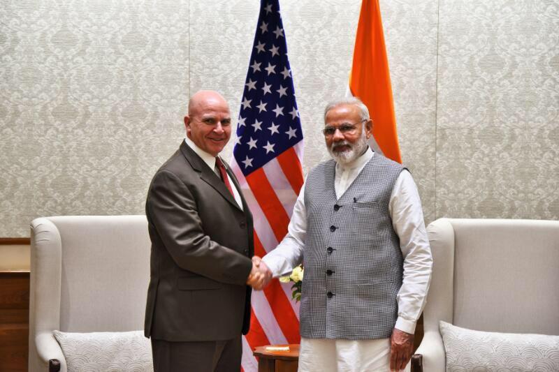 US NSA McMaster with PM Modi