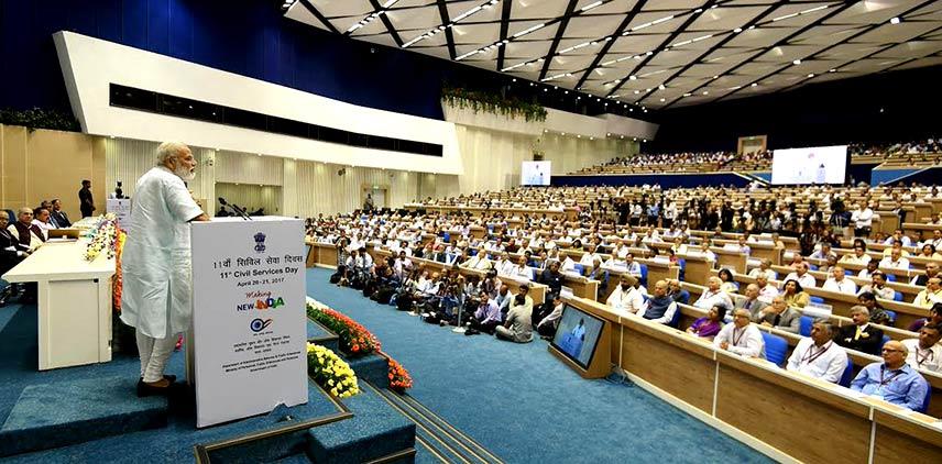 Prime Minister Narendra Modi on the occasion of 11th Civil Services Day