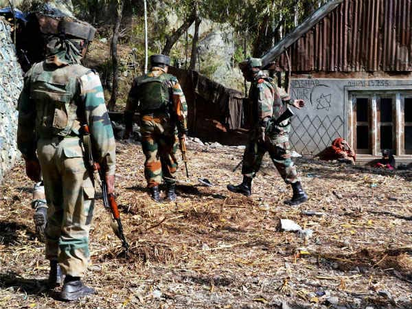 Indian Army along with other security forces on anti-terror operation