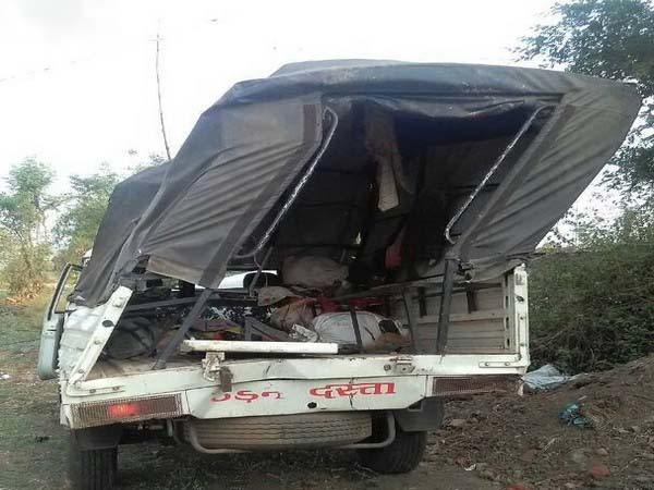 A view of accident took place in Jabalpur.