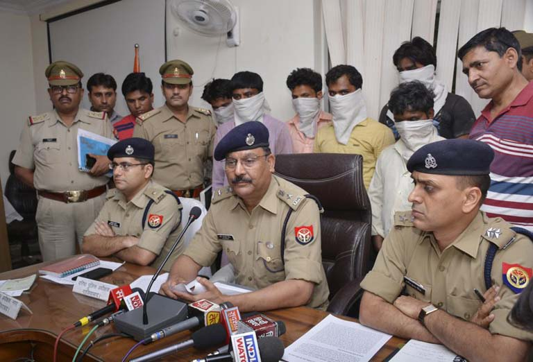 SSP Ghaziabad Hari Narayan Singh during a Press conference