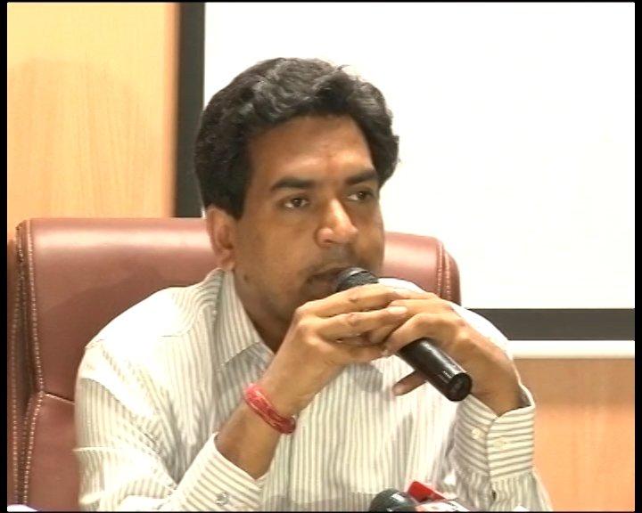 Kapil Mishra during a press conference