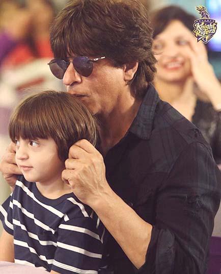 Shahrukh Khan and Abram