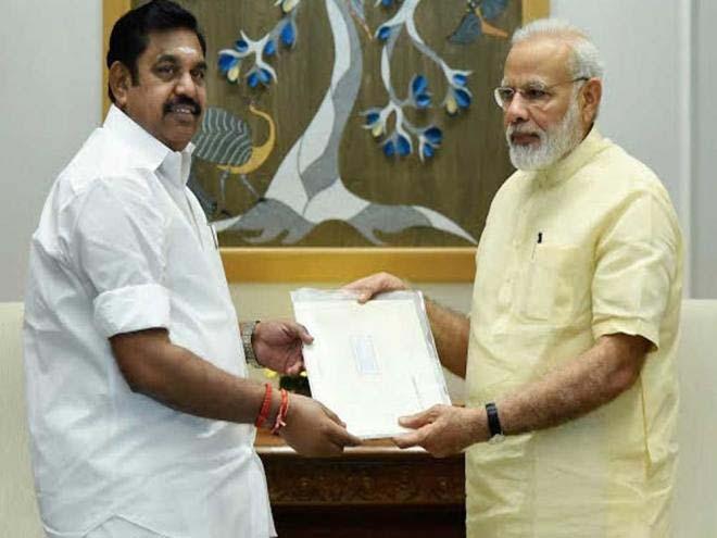 Tamil Nadu CM invites PM Modi