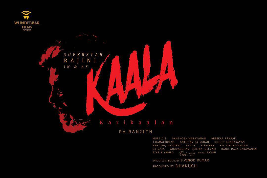 Movie poster of 'Kaala'