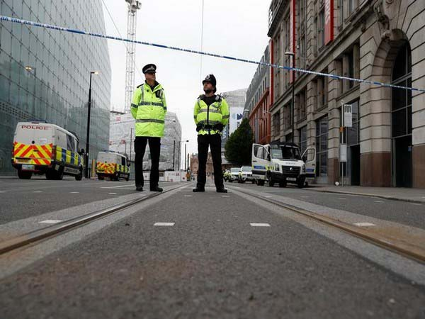 Crime scene of Manchester attack