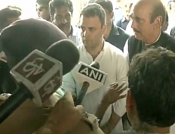 Rahul Gandhi with Ghulam Nabi Azad