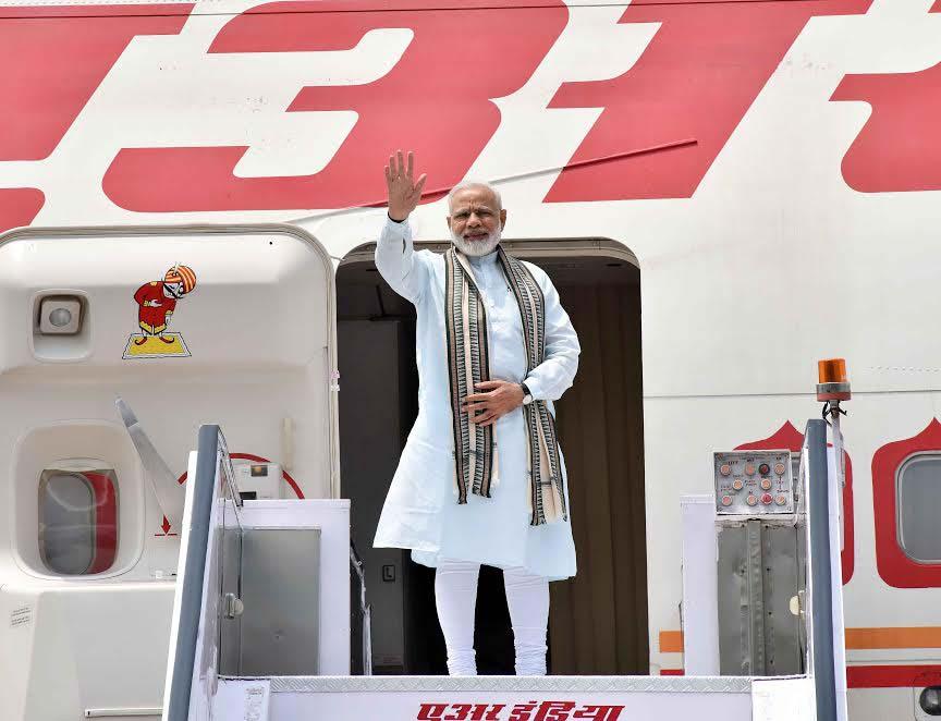 Prime Minister Narendra Modi departs for Four-nation tour