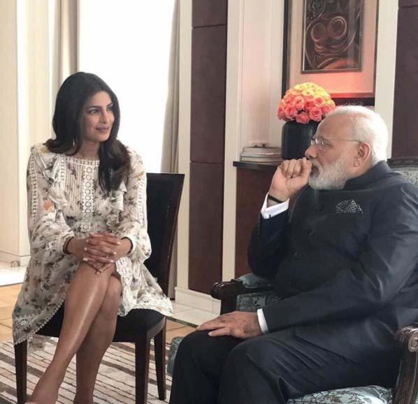 Priyanka Chopra with Prime Minister Narendra Modi