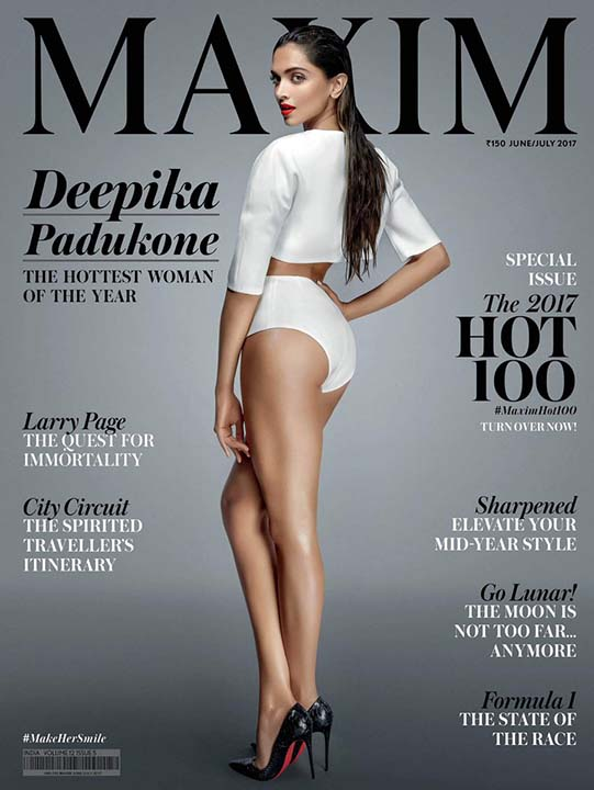Deepika Padukone on Maxim's cover page