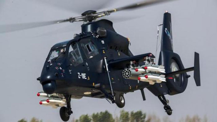 Chinese helicopter seen in Indian border