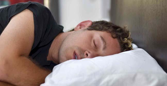 A man is sleeping