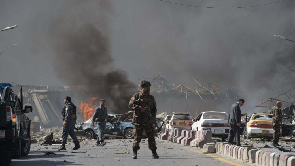 A powerful explosion was reportedly heard in Kabul