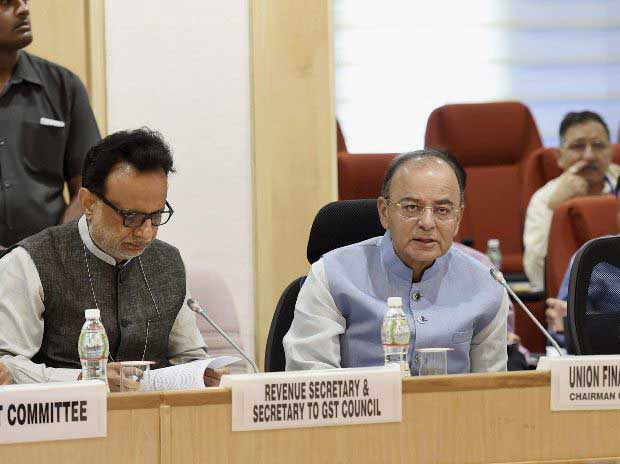 Finance Minister Arun Jaitley during the 16th GST Council Meeting