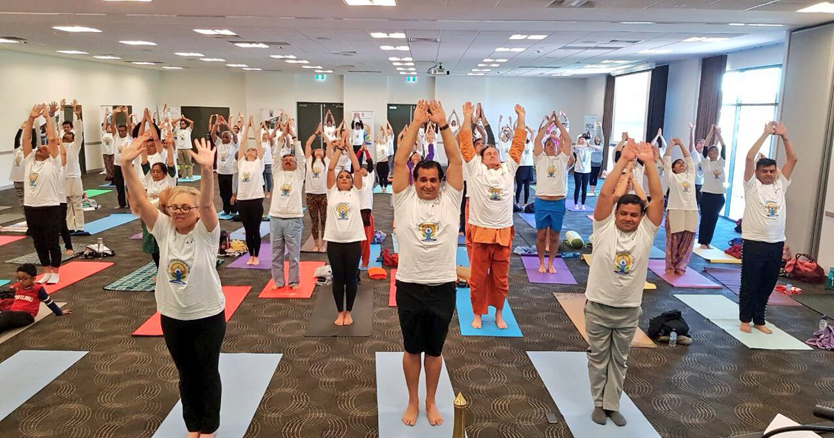 Ministry of External Affairs & the AYUSH Yoga session for diplomats
