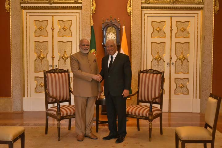PM Modi meets Portuguese Prime Minister Antonio Costa