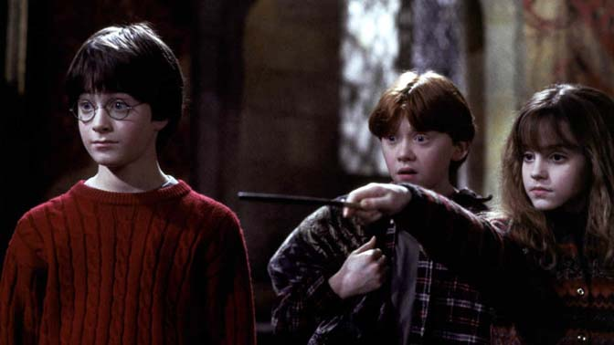 A view of Harry Potter and his friends