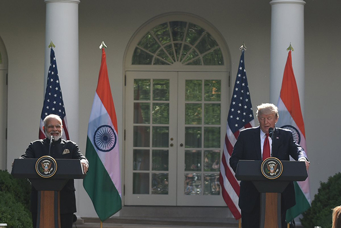 PM Modi and US President Donald Trump addressing media