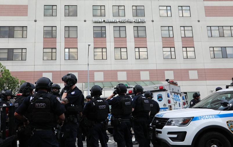 Outside view of Bronx-Lebanon Hospital