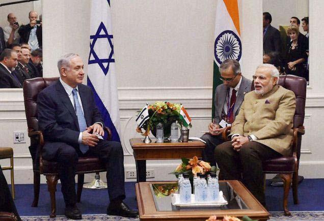 Prime Minister Narendra Modi with Prime Minister Benjamin Netanyahu