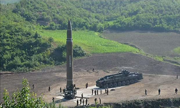 A view of  ICBM-Hwasong 14