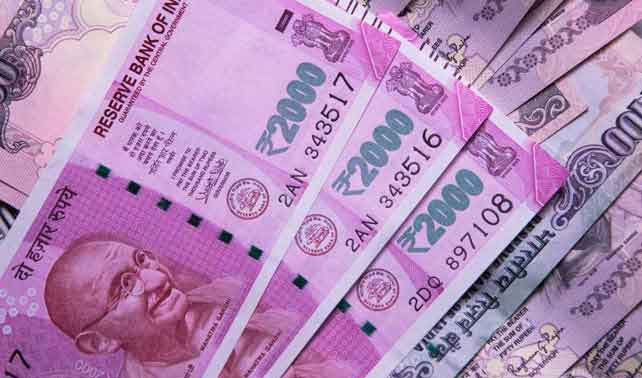 Rupee gains by 5 paise