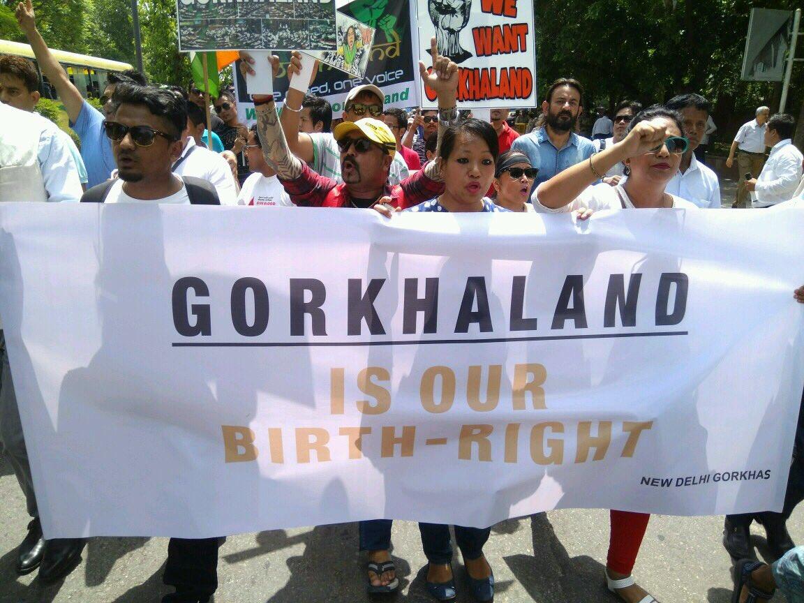 Gorkha Sanyukt Sangharsh Samiti protest