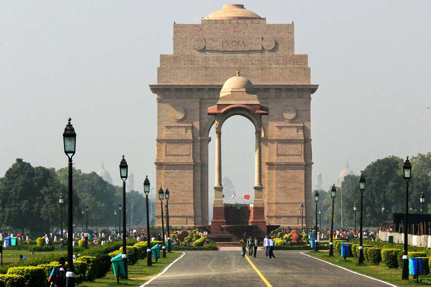 A view of India Gate